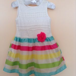 The Children's Place Sleeveless And Striped Dress